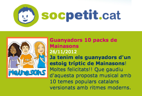 Sorteig de 10 Packs Mainasons