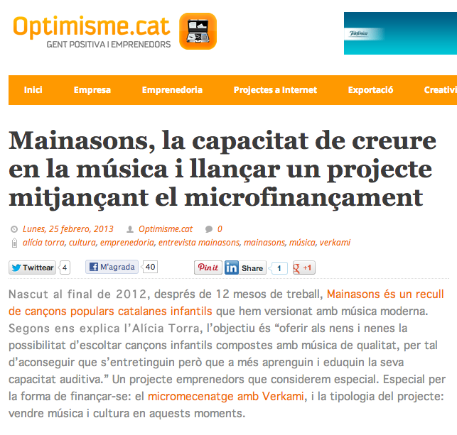 Entrevista a Optimisme.cat